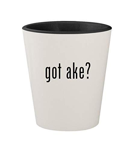 got ake? - Ceramic White Outer & Black Inner 1.5oz Shot Glass