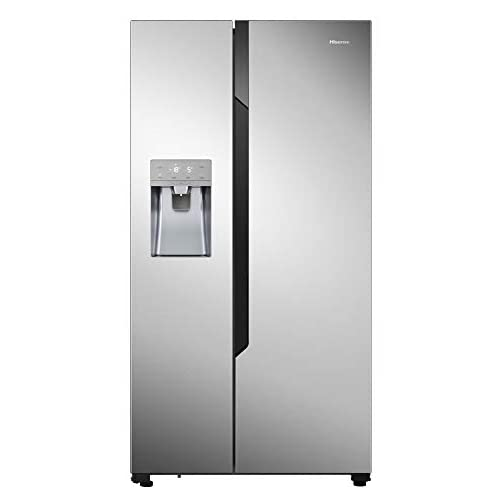 Hisense Refrigerador NoFrostPlus RS694N4TC2 Inverter Compresor FastFreeze, dispensador de agua helada, 178,6 cm, parte fría 371 l, parte congeladora 191 l, 42 dB, 404 kWh/año, aspecto inoxidable a buen precio