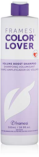 Framesi Color Lover Volume Boost Shampoo - 16.9 Ounce, Color Safe, Weightless, Volume Shampoo With No Sulfate, Vegan, Gluten Free, Cruelty Free ()