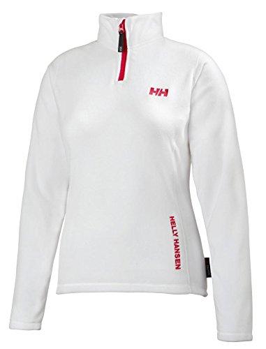 Helly Hansen Women's Day Breaker Half Zip Fleece Pullover, White, Small