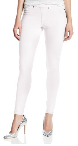 Hue Original Jeans Solid Color Leggings (Extra Large, White)