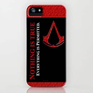 Customized Assassin's Creed iphone 5, 5s Hard Plastic Personalized Protected Case-- Design By Orange Accessories