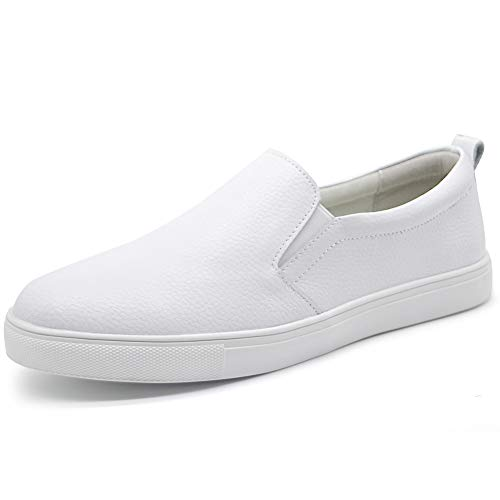 HKR Womens Slip On Sneakers Casual Leather Loafers Comfortable Work Driving Nursing Shoes 10 US ()