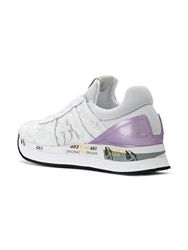 PREMIATA Damen LIZ3003 Weiss Gummi Sneakers