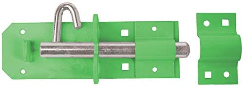 Perry Equestrian 1A-PP0200GN 200 mm 8 inch no.1A/PP Heavy Brenton Padlock Bolts-prepacked Green