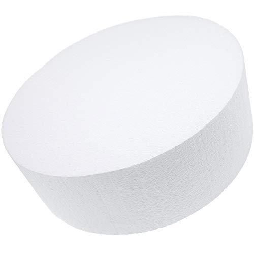 Bright Creations Round Foam Cake Dummy, 12 x 4 Inches, White