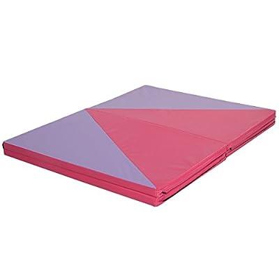 "MD Group 4' x 10' x 2"" Triangular Splicing Thick Folding Panel Gymnastics Mat"