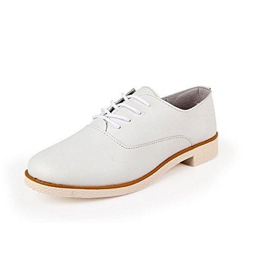 Hoxekle Damesmode Lage Britse Stijl / Geperforeerd / Wig / Vleugeltip Oxford Schoenen / Vintage Oxford Schoenen Wit