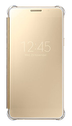 Official Clear View Flip Cover / Case for Samsung Galaxy A5 (2016) , Gold