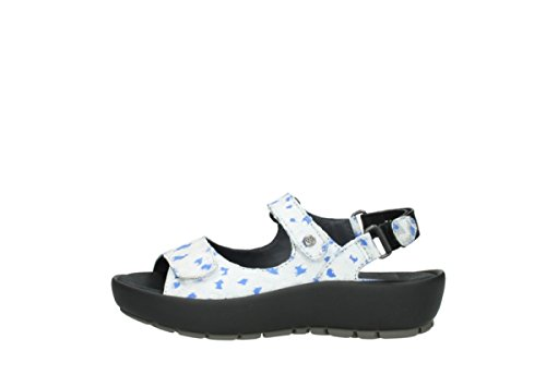Offwhite Sandals Leather Womens blue Rio 92128 Wolky wxCgqC