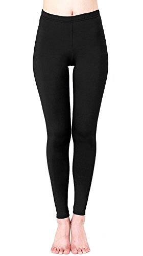 Comfy Tights (OFEEFAN Stretch Cotton Soft Skinny Full Length Cotton Leggings Tights Black L)