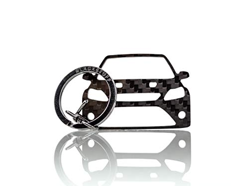 BlackStuff Carbon Fiber Keychain Keyring Ring Holder Compatible with Lupo GTI BS-167