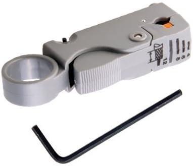 Ogquaton Outil de coupe de d/énudeur de c/âble coaxial rotatif RG58 RG6 Portable et utile