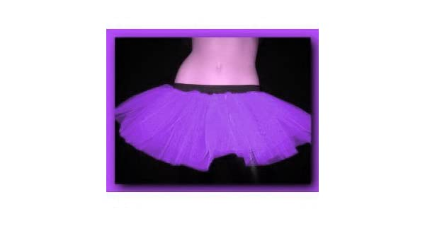 Purple Tutu Petticoat Skirt Punk Cyber Rave Dance Fancy Costumes ...