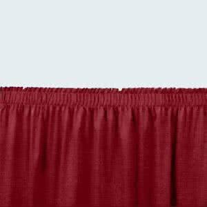 - Tabletop king Seating SS16-48 Burgundy Shirred Stage Skirt for 16