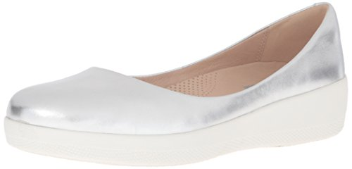 shipping outlet store online FitFlop Women's Leather Superballerina Ballet Flat Silver best place online CbDpkS5GE
