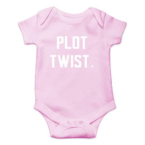 Baby Pink Creeper - Plot Twist - Plan Changer Bundle of Joy - Funny Cute Infant Creeper, One-Piece Baby Bodysuit (Pink, Newborn)