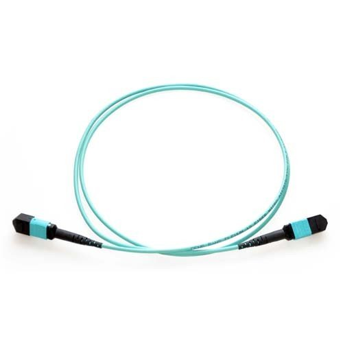 Belkin 1M MTP to MTP MPO Fiber Optic Cable 40GB Aqua 50/125 OM3 Plenum - patch cable - 3.3 ft