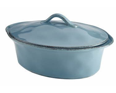 Rachael Ray Cucina Stoneware 3-1/2-Quart Oval Casserole