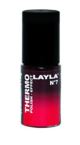 Layla Thermo Polish Effect Colour Changing Nail Varnish (BORDEAUS TO RED) by Layla - Bordeau Color