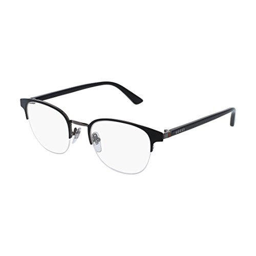 Gucci GG 0020O 001 Black Metal Round Eyeglasses - Round Gucci Glasses