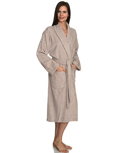 - TowelSelections Women's Robe, Turkish Cotton Terry Shawl Bathrobe X-Large/XX-Large Chateau Gray