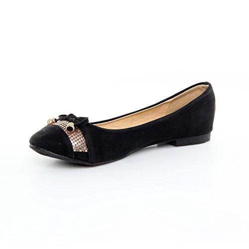 Hausschuhe Ballerinas Frauen Designer Schuhe schwarz Schuhe neue schwarz 8Xqd4X