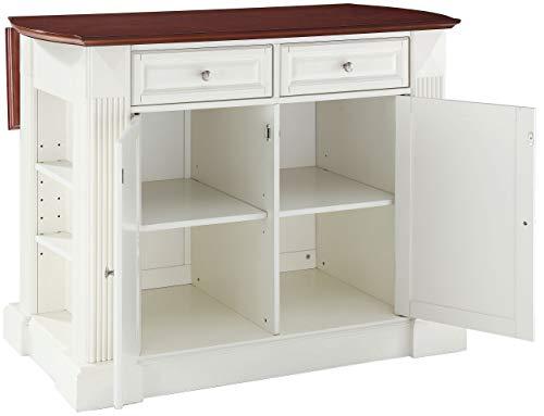 Kitchen Crosley Furniture Drop Leaf Kitchen Island/Breakfast Bar, White modern kitchen islands and carts
