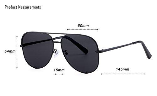ab0678383 Eyerno Mirrored Aviator Sunglasses For Men Women Fashion Designer UV400 Sun  Glasses(Black)