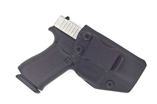Fast Draw USA - Compatible with Glock 43 IWB Kydex Holster Inside Waistband Concealed Carry Holster Made in USA (Black-Right Hand)