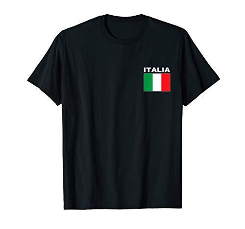 Italia T-Shirt Italy Flag Cool Italian Flags Gift Top - Italia Soccer T-shirt