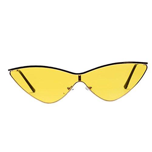 De Soleil Sharplace Jaune Homme Lunette Mirrored Triangle Style Rétro Mode Femme Vintage 5qnwFU