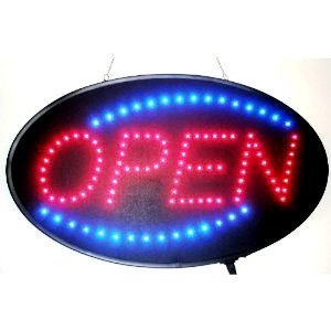 Ultra Bright Open LED Sign With Animation and Power (On & off) two Switchs for Business By E-Onsale (Blue)