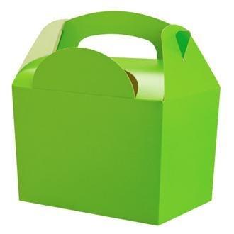 40 Infantil/Niños Color Liso para llevar comida fiesta cumpleaños Caja Bolsa Sorpresa Cajas - tamaño: 152mmx 100mmx 102mm - Verde: Amazon.es: Hogar