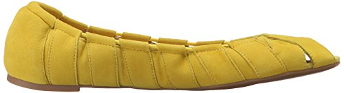 Nine West Munchkin Gamuza Ballet Flat Yellow Suede