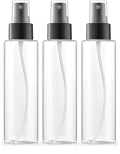Fine Mist Spray Bottles 4 oz, BPA-FREE, PETE1 Plastic, Pack of 3 ()