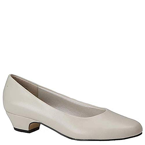 (Easy Street Womens Halo Closed Toe Classic Pumps, Bone Synthetic, Size)