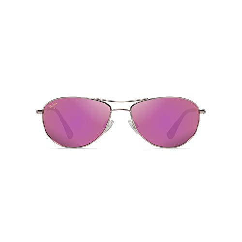 Maui Jim Baby Beach P245-16R | Polarized Rose Gold Aviator Frame Sunglasses, with with Patented PolarizedPlus2 Lens Technology
