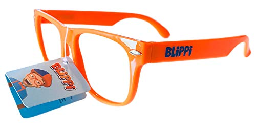 Blippi Glasses for Children - Orange Nerd Glasses -
