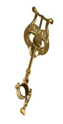 Atril marcha corneta c/argolla abierta Ø18mm, dorado. Tamaño: Normal