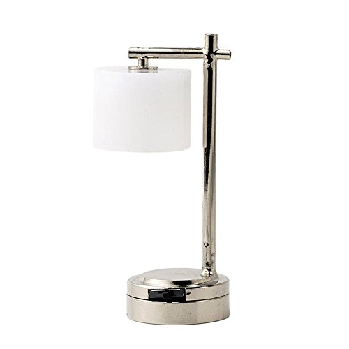 RoseSummer Dollhouse Mini Table lamp Battery Operated LED Light Miniature Accessory Decor