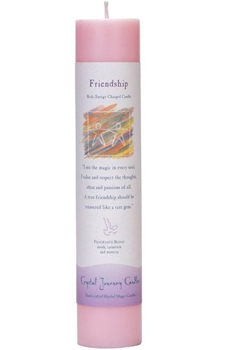 Crystal Journey Herbal Magic Reiki Charged Candle~ Friendship (Candle Energy Lamp)