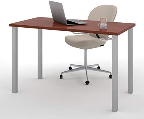 Bestar 24 x 48 Table Desk with Square Metal Legs – Universel