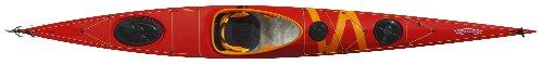 Tahe Marine Composite Sit-In Sea/Touring Kayak, Orange/Yellow, 17.25-Feet