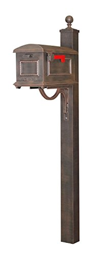 - Special Lite Traditional Curbside Mailbox with Springfield Mailbox Post - Copper