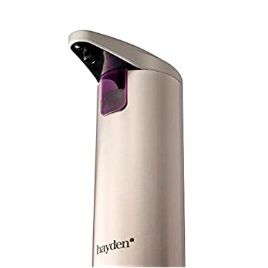 The Original Hayden Autosoap - Premium Automatic Touchless Soap Dispenser - Fingerprint Resistant Brushed Stainless Steel - Hand Sanitiser compatible - (NEW Waterproof Base!)
