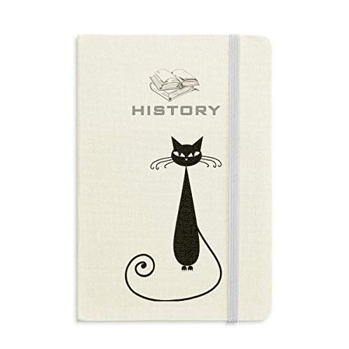 Animal Art Silhouette Black Cat Lover Halloween History Notebook Classic Journal Diary A5 -