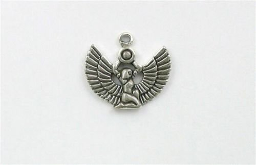 Sterling Silver Egyptian Goddess Isis Charm - Jewelry Accessories Key Chain Bracelet Necklace -