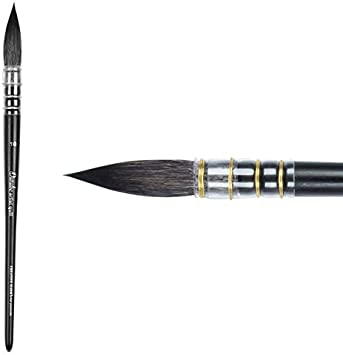 Size 6 Creative Mark Danube Professional Watercolor Quill Paint Brushes for Watercolors