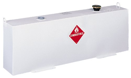 Delta 486000 37 Gallon White Vertical (Fuel-N-Tool Ready) Steel Liquid Transfer Tank for Trucks